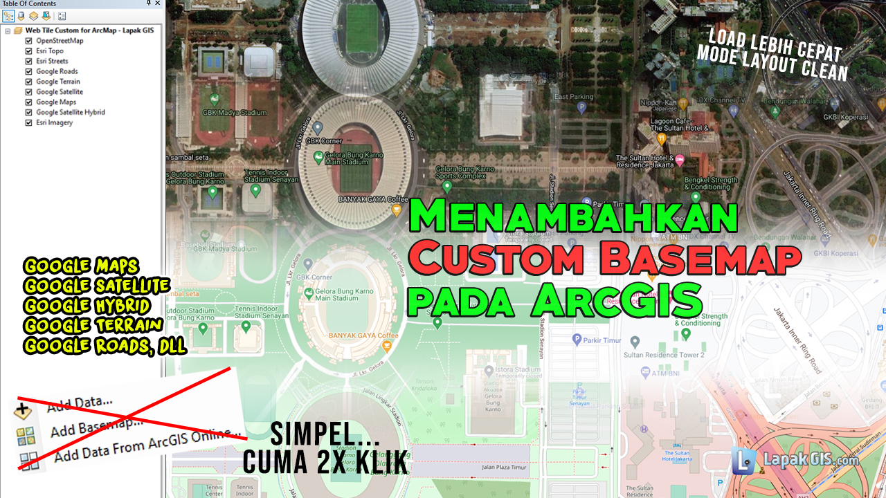 Menambahkan Custom Web Tile (Basemap) pada ArcMap