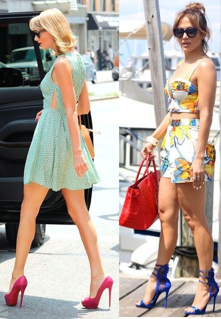 6 looks inspiração calçados statement- Tendência, Taylor Swift, Jennifer Lopez