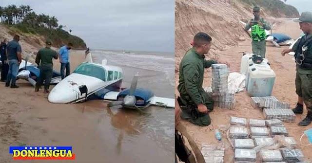 GNB rescató a narcotraficantes al caer su avioneta por accidente en Falcón