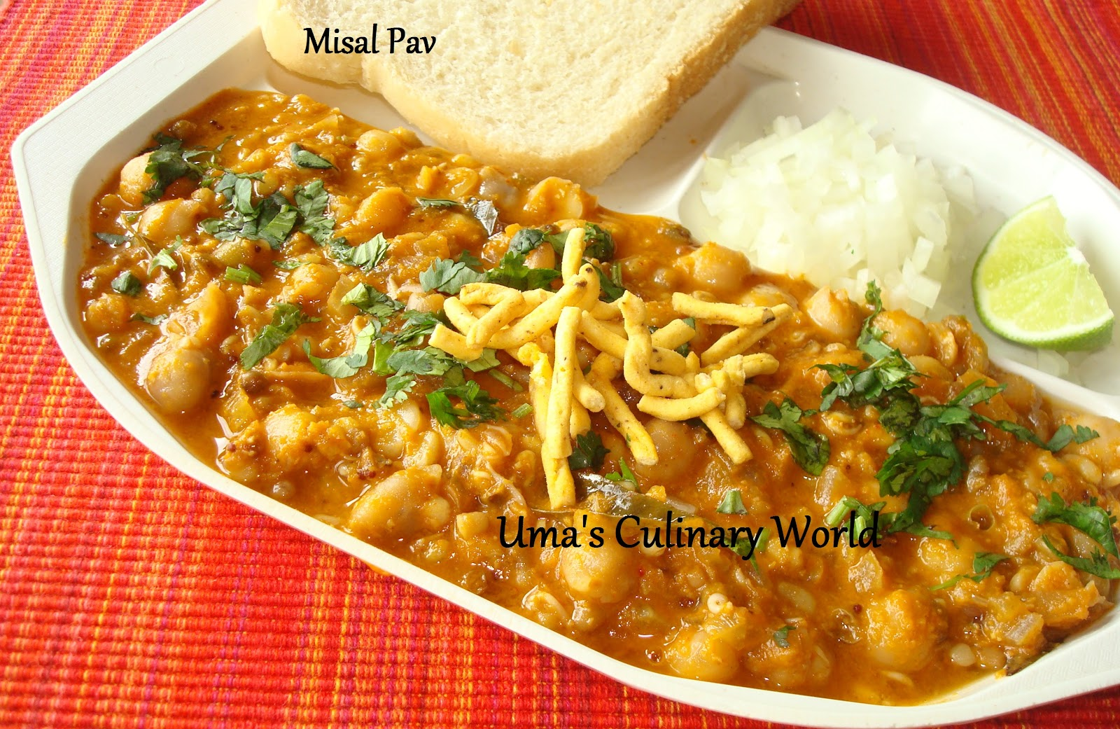 Kolhapuri Misal Pav   Traditional Maharashtrian Recipe ...  Misal Pav Recipe In Marathi