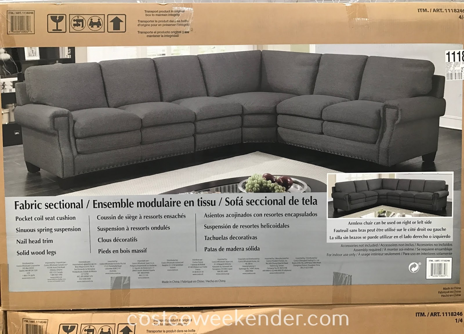 Costco 1118246 - Fabric Sectional: great for any home