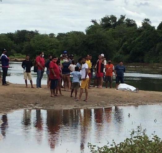 Corpo de jovem que se afogou neste domingo no rio em Governador Dix Sept Rosado é encontrado nesta segunda feira