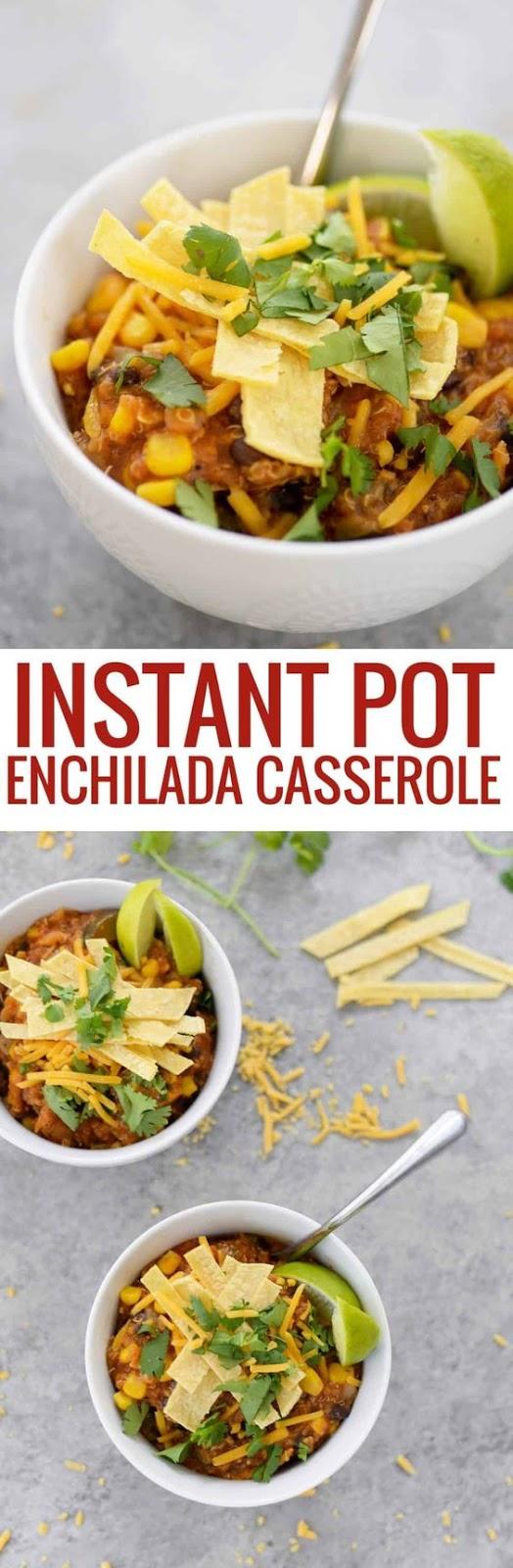 Instant Pot Quinoa Enchiladas