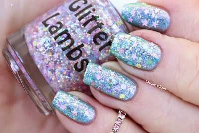 "Candy Lip Balm ""Fashion Makeover Collection"" Glitter Lambs Nail Polish Swatched By @LacqueredLori"