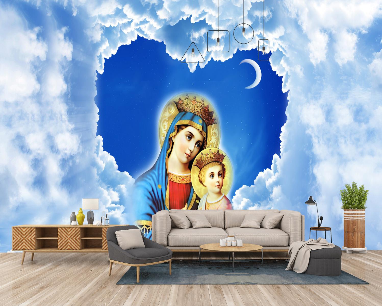 Tranh Dán Tường Đức Mẹ Maria