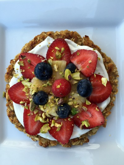 Healthy Oat and Fruit Pizza for One