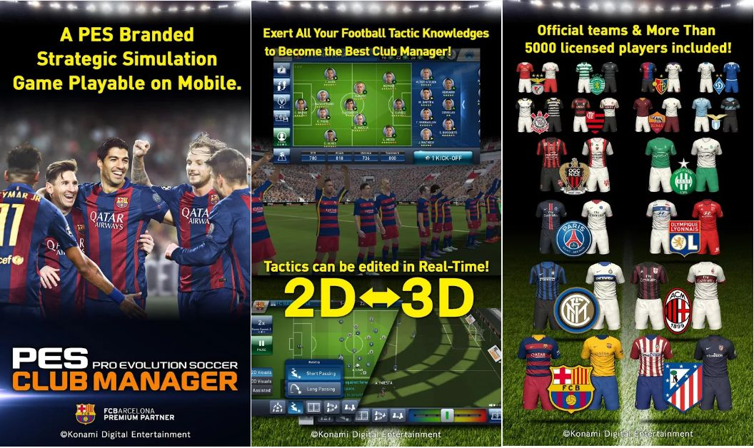 PES CLUB MANAGER For Android Game Screenshots