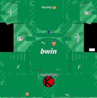 Valencia CF 2019/2020 Kit - Dream League Soccer Kits