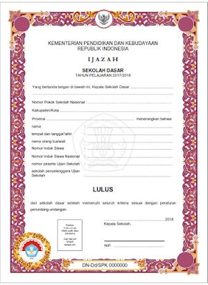 Juknis Penulisan Ijazah; Perka Balitbang Kemdikbud 016/H/EP/2018