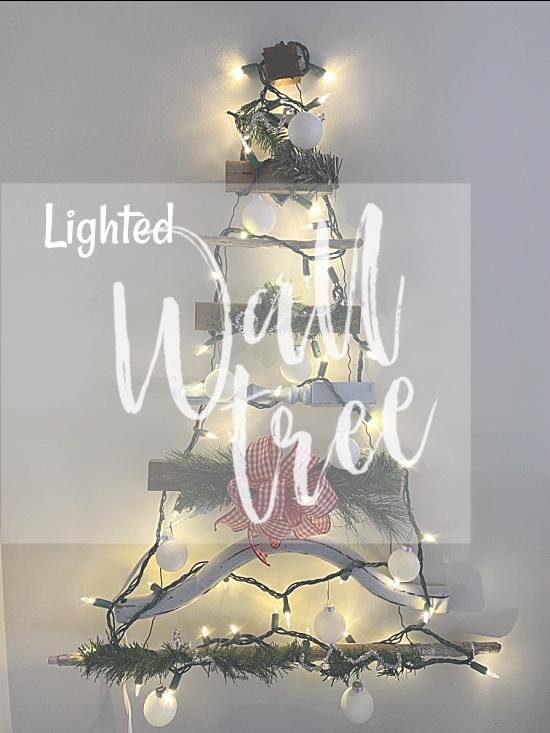 Lighted christmas tree pin