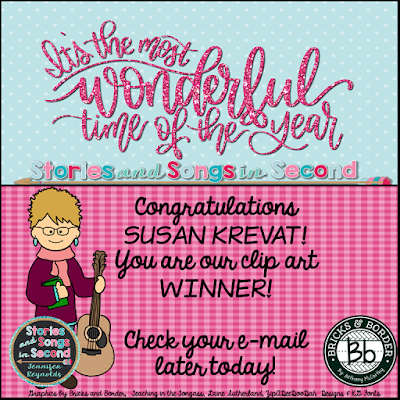Bethany from Bricks and Border is a new TpT clip artist that deserves your attention!  Susan Krevat is the lucky winner of three sets of her clip art!