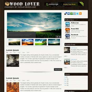 Wood Lover blogger template. template blogspot free
