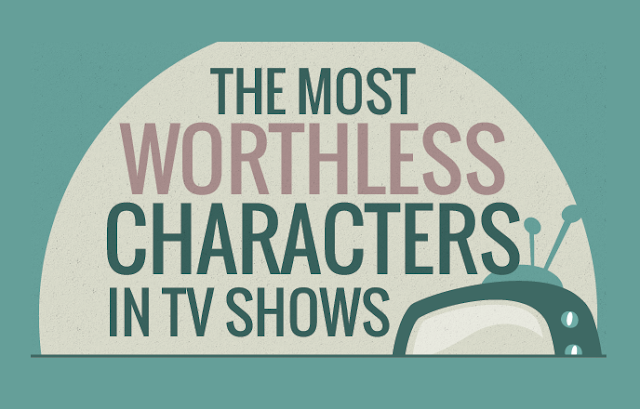 The Most Worthless Characters In Tv Shows  #Infographic