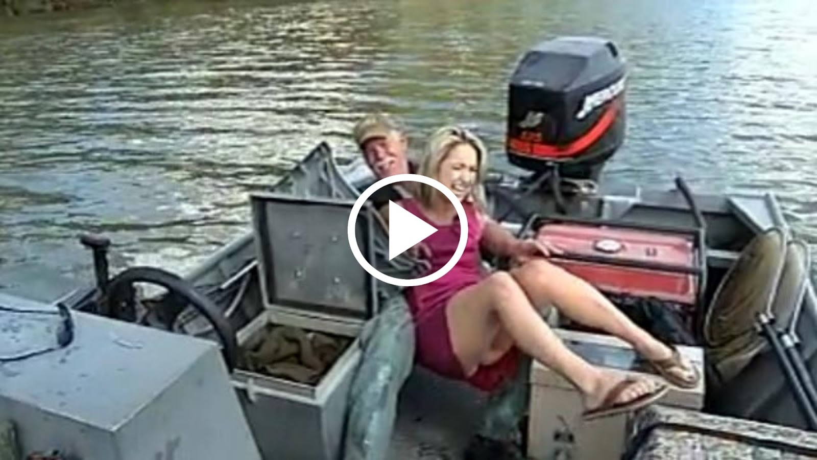 funny falling in while fishing