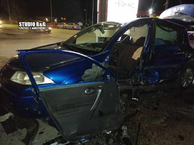 Τροχαίο ατύχημα στη Δαλαμανάρα Αργολίδας - Τραυματίας γυναίκα οδηγός