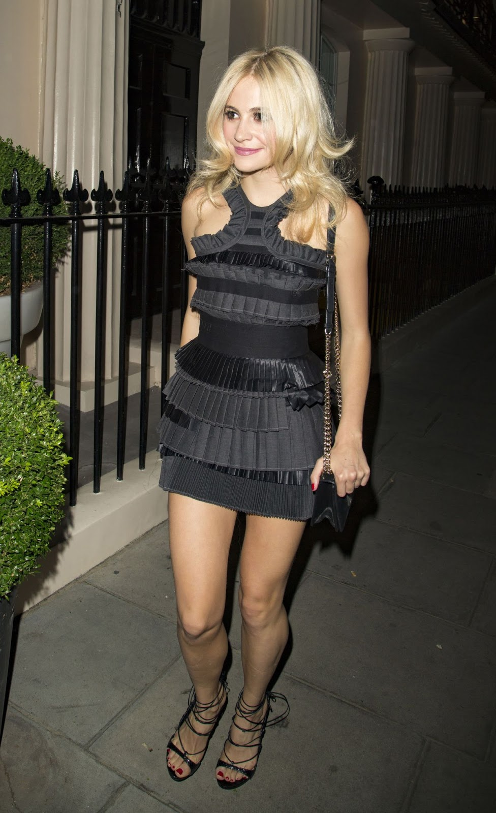 Pixie Lott Leaves Theatre Royal Haymarket In London
