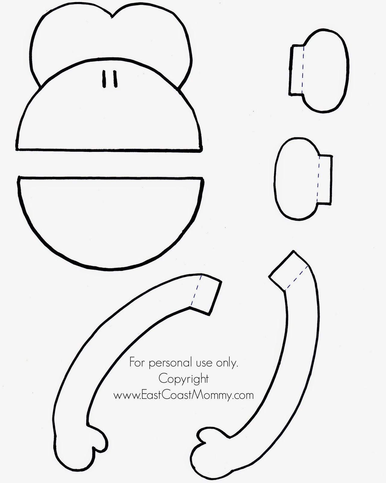 1 Print Out The Template Onto Card Stock You Can Download A Pdf Version Of My Monkey Puppet Here