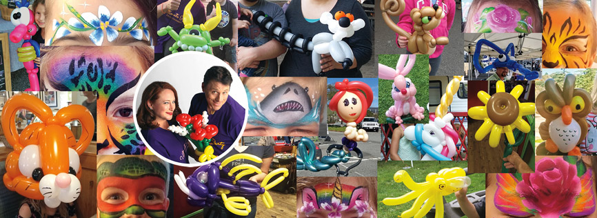 the best balloon twisters and best face painters in the Marin and the Cleveland area