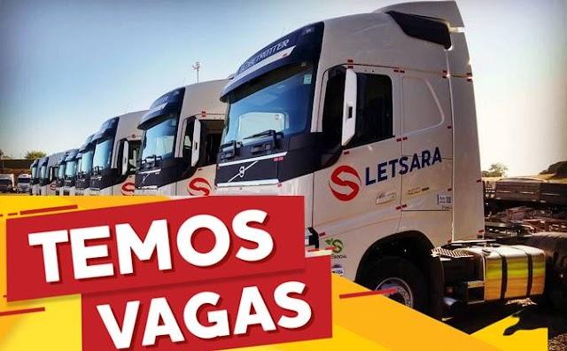 Transportadora Letsara abre vaga para Motorista Rodotrem.