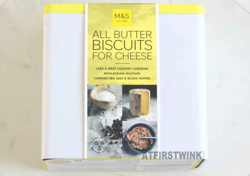 Marks and Spencer All butter biscuits for cheese leek and west country cheddar wholegrain mustard cornish sea salt and black pepper