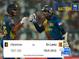 Sri Lanka won by 6 wickets (with 7 balls remaining)