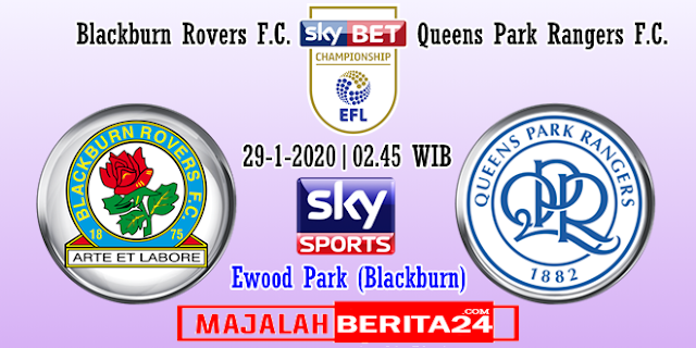 Prediksi Blackburn Rovers vs Queens Park Rangers — 29 Januari 2020