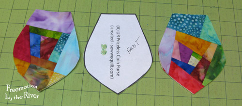 Cut fronts of coin purse