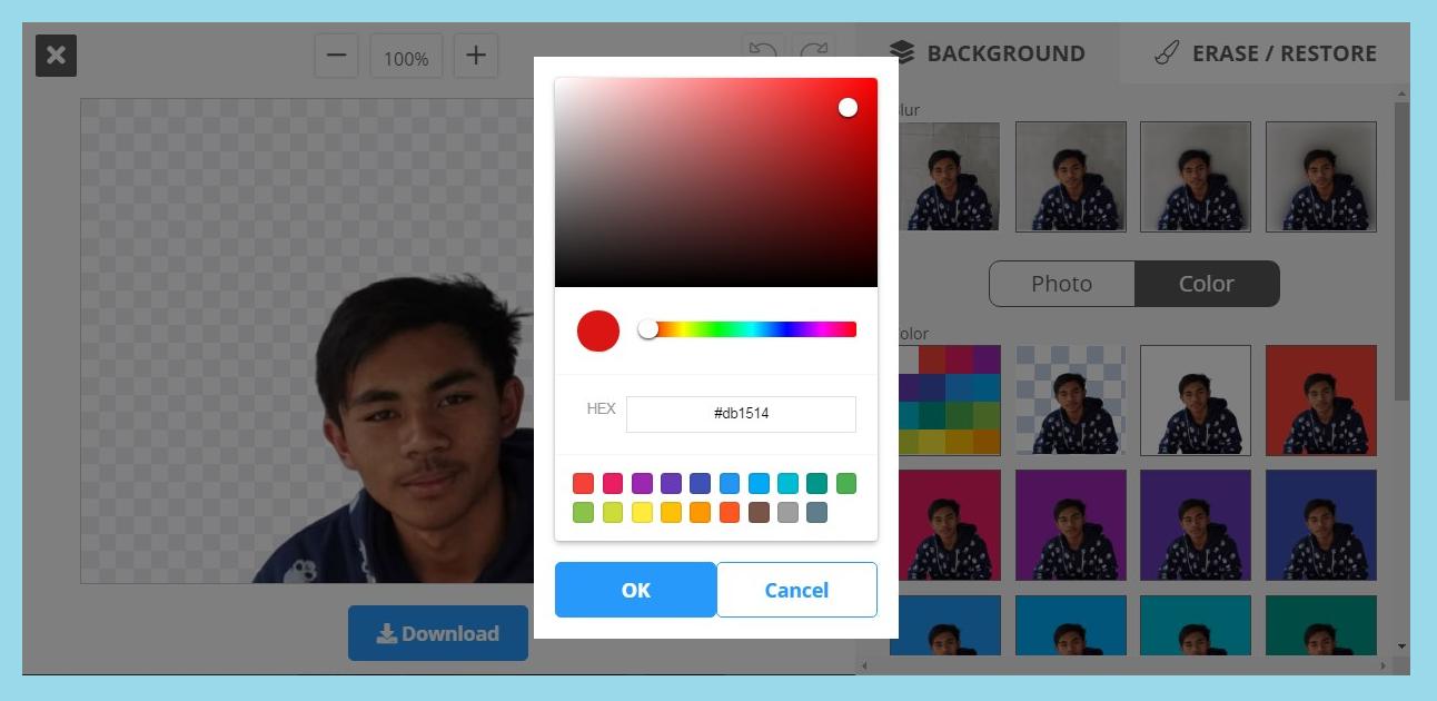 cara merubah background foto