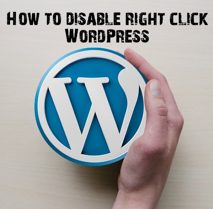 How to disable right click WordPress