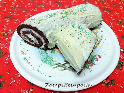 Tronchetto Di Natale Leggero.Tronchetto Di Natale Con Ricotta E Cioccolato Bianco Zampette In Pasta