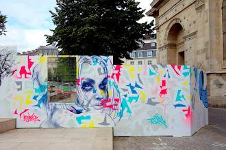 Sunday Street Art : Tore - Palissade Agnès b du chantier des Halles - rue Rambuteau - Paris 1