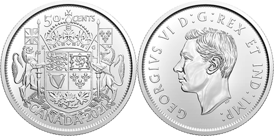 Canada 50 cents 2021 - 100th Anniversary of Canada's Coat of Arms