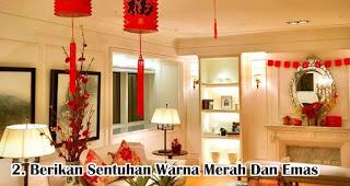 Berikan Sentuhan Warna Merah Dan Emas merupakan salah satu tips mudah buat dekorasi imlek di rumah