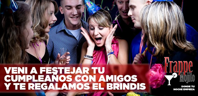 Flyer con promoción para Frappe Mojito Bar