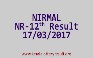 NIRMAL Lottery NR 12 Results 17-3-2017