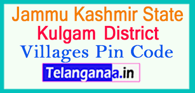 Kulgam District Pin Codes in Jammu Kashmir State
