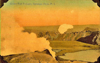 Photo of Taal Volcano.  Part of the Rudyuski Postcard Collectdion of the National Library of the Philippines.