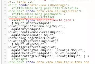Cara memasang kode rating bintang pada pencarian Google