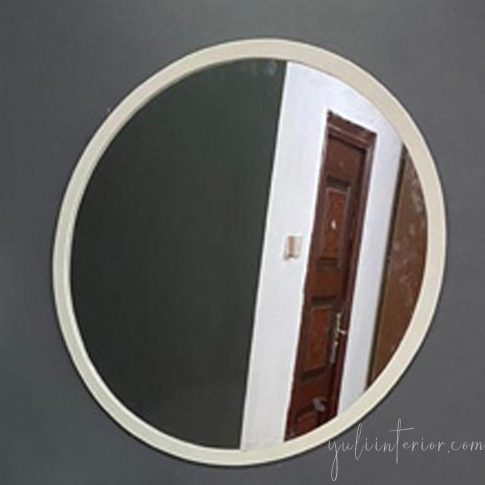 Round Handcrafted Wood Mirror available online in Port Harcourt, Nigeria