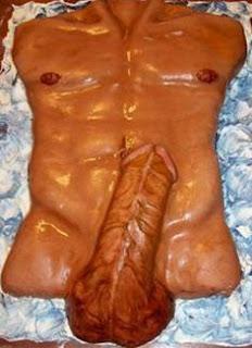 Extra large dick cake design