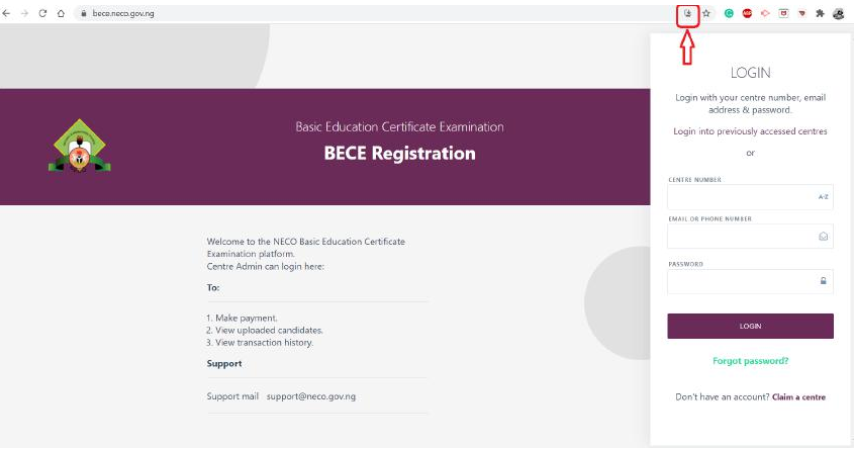 NECO BECE App Installation & Online Registration Guidelines