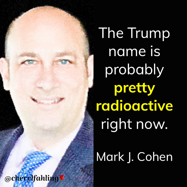 The Trump name is probably pretty radioactive right now. — Mark J. Cohen, Licensed Associate Real Estate Broker