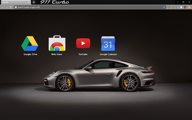 Porsche 911 Turbo Chrome Theme