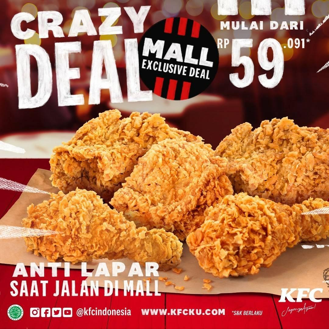 KFC CRAZY DEAL! Promo Mall Exclusive Deals mulai dari Rp 59.091