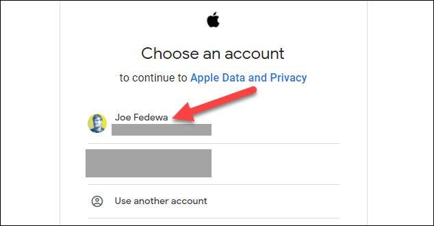 حدد حساب جوجل الخاص بك