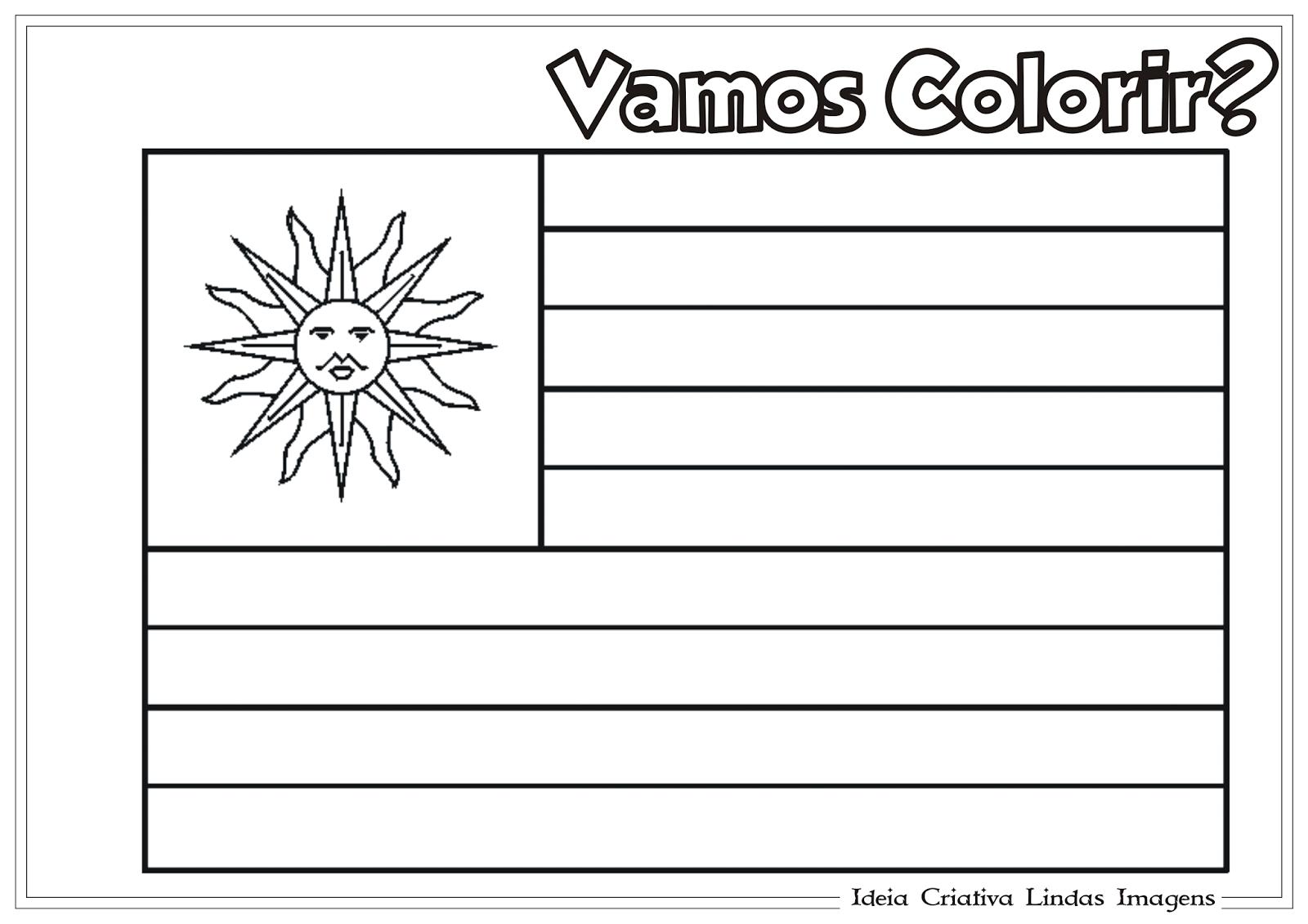 Copa Do Mundo 2014 Grupo D Bandeira Do Uruguai Para Colorir