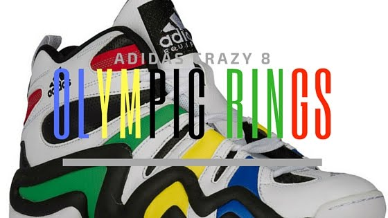 reputable site 7f4ca b41cf ... As celebrating one the up-coming Olympics, Adidas is releasing Olympic-inspired  colorway Mens adidas Crazy 8 Retro Basketball ...