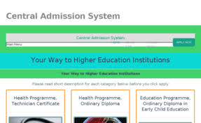 welcome to central admission system for certificate and diploma  welcome to central admission system for certificate and diploma