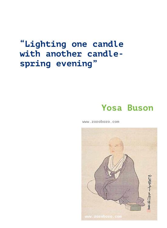 Yosa Buson Quotes, Yosa Buson Poems, Yosa Buson Poetry, Yosa Buson Writings, Yosa Buson .