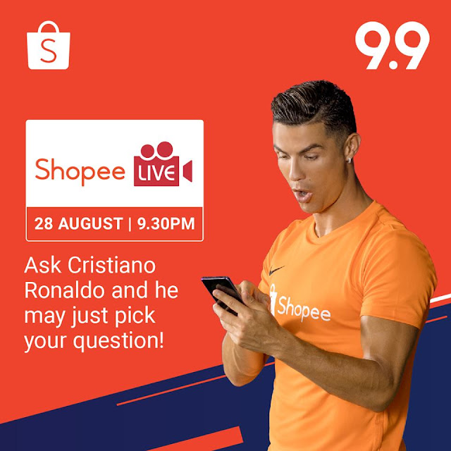 Catch Cristiano Ronaldo on Shopee Live
